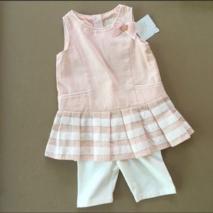 Heirlooms Pink & White Shorts Bow Outfit